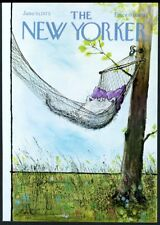 New Yorker magazine framing cover June 30 1975 Ronald Searle cat in hammock