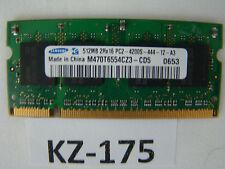 Samsung Laptop-Ram, M470T6554CZ3-CD5, 512 MB, DDR2 RAM, 533 MHz #KZ-175