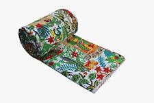 Indian Cotton Kantha Quilt Bedspreads Throw Frida Kahlo Printed Blanket