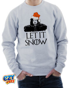 LET IT SNOW Christmas Jumper Game Of Thrones Jon Snow Xmas Sweatshirt GOT Stark