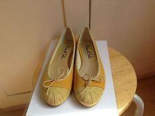 BN French Sole Henrietta Ballerina Flats in Yellow Suede UK7/EUR 40 RRP190