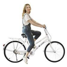 Women's Comfort Cruiser Bike 24-Inch Wheels Outdoor Exercise Girls Bicycle White