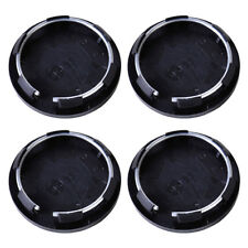 4X Black Car Wheel Center Hub Caps Covers Set No Logo Universal 50mm For VW Ford