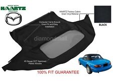 Mazda Miata Convertible Soft Top & Plastic Window 1990-2005 Black Haartz Cabrio