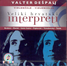 VALTER DESPALJ 2 CD Violoncelo Veliki hrvatski interpreti 2010 Brahms Ivo Macek