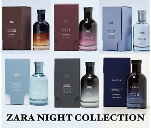 Zara Night Collection 100ml EDT Pour Homme Night, Night II, Summer, Winter NEW