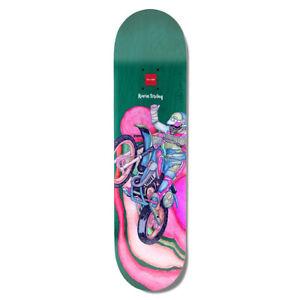 """Chocolate Skateboard Deck Tershy Psych Bike Green 8.25"""" x 31.75"""""""