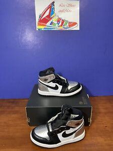 Air Jordan 1 High OG Silver Toe TD Toddler CU0450-001 - Size (9c)