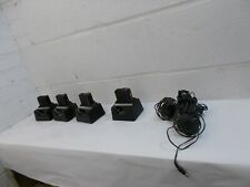 Lot of 4 Vintage Shinwa Voice Pager w Charger Police Fire