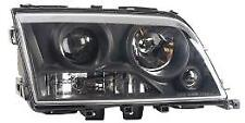 Projector Headlights Lamps Replace LHD Clear Black Pair For Mercedes W202 94-99