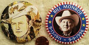 CLEARANCE SALE Bill Monroe PIN BUTTON SET Grandfather of Bluegrass Memorial Rare