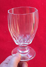 Antique English 19th century Thumb Facet Cut White Red Wine Glass Crystal Goblet