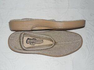 ARCOPEDICO Beige Vegan Knit Comfort Flats EU39 US 8 - 8.5 M - NEW