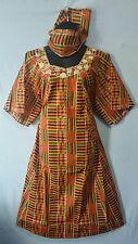 Womens Clothing African Kente Print Maxi Dress Long Dashiki Kaftan Free Size
