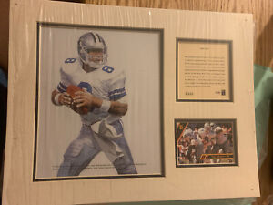 1993 TROY AIKMAN Cowboys HOF Kelly Russell Lithograph Print Original Art Matted