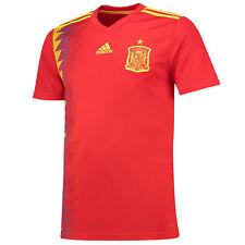 Adults Large adidas Spain Home Shirt 2018 Plain Mx12