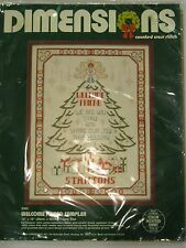 Dimensions Cross Stitch Kit WELCOME FRIEND CHRISTMAS SAMPLER 8302 12x16'' MIP
