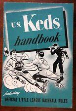 US Keds shoes sneakers Handbook 1951 Official Little League Baseball Sports