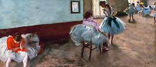 The Dance Lesson by Edgar Degas, Ballet Dancers, Poster / Canvas Print POPULAR