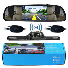 "Wireless Reverse Car Backup Camera With 4.3"" Rear View Mirror Monitor"