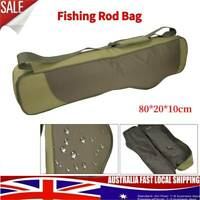 Portable Fishing Rod Bag Waterproof Folding Shoulder Tackle Bag Storage Carrier