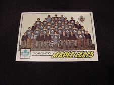 BEAUTIFUL 1977-78 Topps #86 Toronto Maple Leafs Team Card/Checklist, HI GRADE!