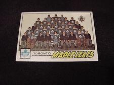 BEAUTIFUL 1977-78 Topps #86 Toronto Maple Leafs Team Card/Checklist, HI GRADE!
