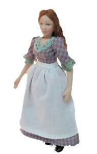 Dolls House Victorian Serving Girl Miniature Woman Porcelain People