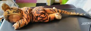 "Anne Geddes Plush Sleeping Baby Doll Tiger 15"" Good Condition"