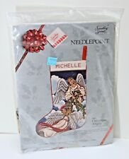 Candamar Designs #30600 Christmas Angels Stocking Needlepoint Kit SEALED NEW