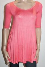 VALLEYGIRL Designer Coral Short Sleeve Tunic Top Size XS BNWT #TB18