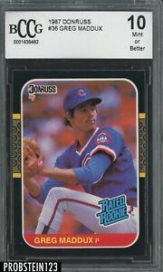 1987 Donruss #36 Greg Maddux Chicago Cubs RC Rookie HOF BCCG 10