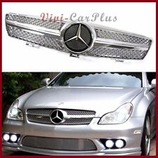 W219 M-Benz 05-2008 CLS350 CLS500 CLS550 Look SL Chrome Front Grille Silver Hood