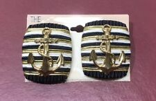 The Icing Anchor Earings Black/Gold/White NEW