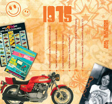 43rd BIRTHDAY or ANNIVERSARY GIFT - 1975 Compilation CD and Year Greeting Card