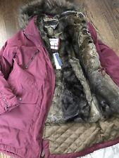 $240 NWT ABERCROMBIE & FITCH LADYS FAUX FUR VEST COLD WEATHER PARKA SIZE L