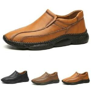 Mens Pumps Slip on Loafers Walking Casual Faux Leather Driving Moccasins Shoes L