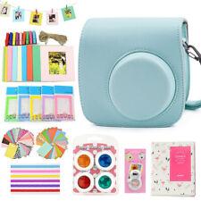 For Fujifilm Instax Mini 8 9 Film Camera Ice Blue Case Bag + Album + 10 Kits