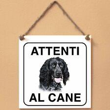 Epagneul bleu de Picardie 1 Attenti al cane Targa cane cartello ceramic tiles
