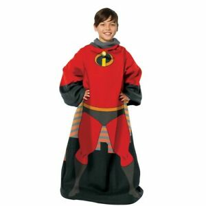 """Incredibles 2, """"Mini Incredible"""" Youth Comfy Throw Blanket with Sleeves"""