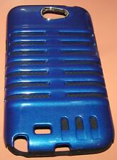 Dual Layer Hybrid Hard Shell case for Galaxy Note II N7100, Gloss Blue finish