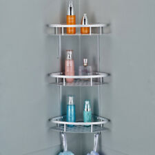 3 TIER BATHROOM SHOWER HANGING CORNER SHELF CADDY STORAGE RACK TOWEL RAIL HOLDER