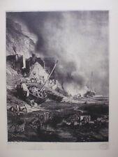 gravure in folio:Radoub d'une barque à marée basse (1832)  par L-G-EUGENE ISABEY
