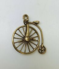 9ct Yellow Gold Penny Farthing Charm Pendant Weight 1.55 grams No Hallmark