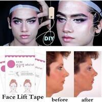 40Pcs Chin Face V Shape Adhesive Tape Fast Work Tools Face Label Lift Up Maker