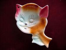 ViNTaGe 1940~50's Shawnee Puss n' Boots? Cat Figurine Spoon Rest Holder~Ashtray