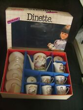 """Coffret dinette vintage en porcelaine """"Eurotoy"""" 13 pièces neuf emballé"""
