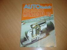 Auto hebdo N°64 Martini Mk 19 F2.Gp de Monaco.