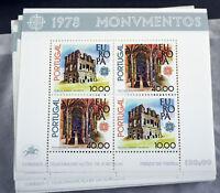 """Portugal 1978, Block """"Baudenkmäler"""" per 100 (ME 2200,-)"""