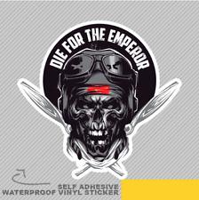 Kamikaze Skull Die For The Emperor Vinyl Sticker Decal Window Car Van Bike 2684